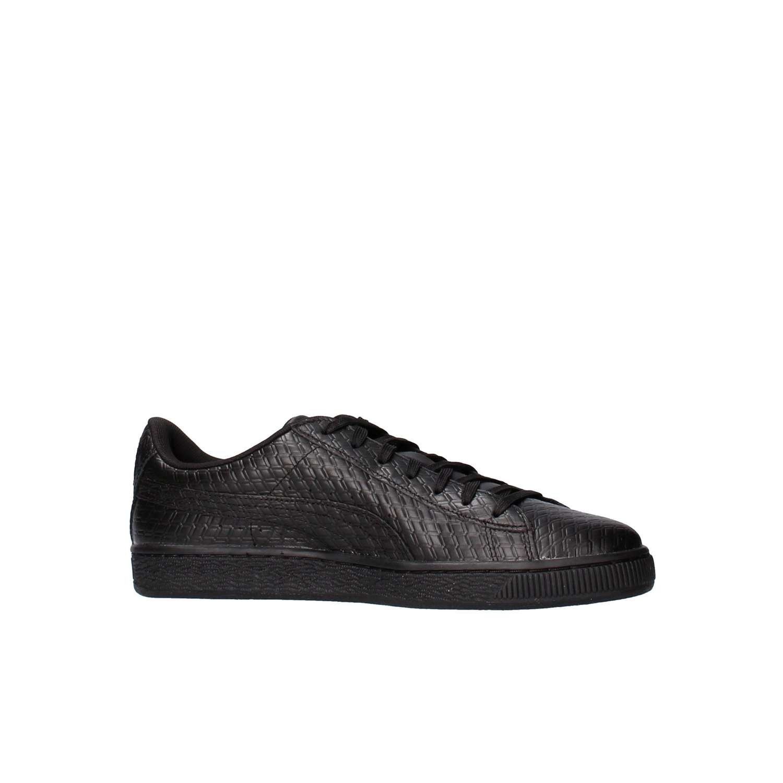 Puma Basket Classic B+W Fashion Schuhe Leder Weiß Turnschuhe Fashion B+W Turnschuhe 773edf