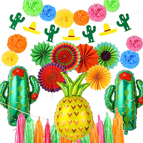 Auihiay 35 Pieces Fiesta Party Decoration with 27