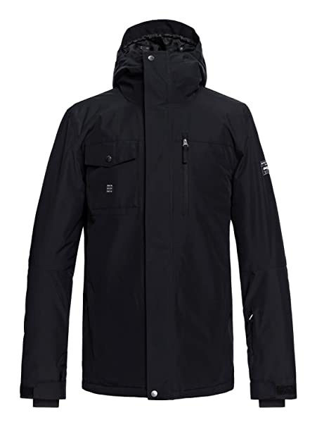 Amazon.com: Quiksilver Mens Mission Solid 10k Snow Jacket ...