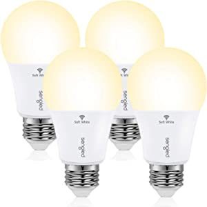 Sengled Smart Light Bulb, WiFi Light Bulbs No Hub Required, Smart Bulbs That Work with Alexa & Google Home, Smart LED Light A19 Soft White Light (2700K), 800LM 60W Equivalent, 4 Pack