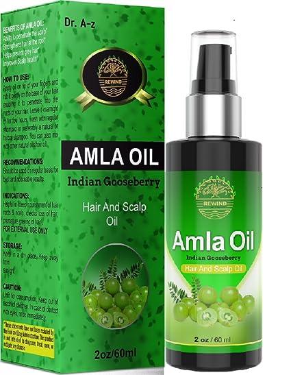 Amla Oil - Aceite para cabello y cuero cabelludo orgánico esencial indio arándano de ganso 100