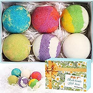 Natural Organic Bath Bombs Gift Sets - Essential Oil Massage Bath Bomb, Perfect for Dry Skin Moisturize (Large)