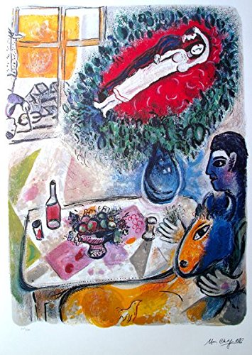 Wall Art by Marc Chagall Reverie Signed Limited Edition Lithograph Print. After the Original Painting or Drawing. Paper 31 Inches X 22.5 Inches ()