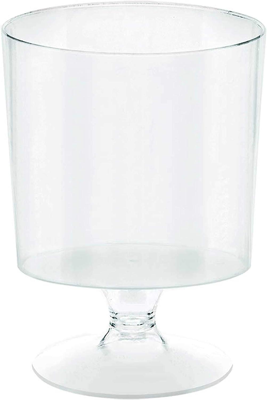 Amscan Tiny Pedestal Cups, 2oz, Clear