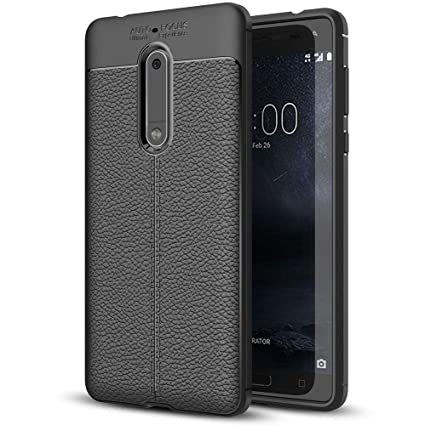 size 40 ccc96 83a88 NALIA Leather Look Case Compatible with Nokia 5, Silicone Ultra-Thin  Protective Phone Cover Rubber-Case Premium Gel Soft Skin, Shockproof Slim  Back ...