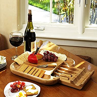 Picnic at Ascot Malvern Cheese Board Set, Bamboo