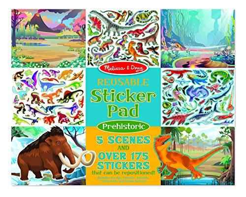 Ice Stickers 3 Age - Melissa & Doug Prehistoric Reusable Sticker Pad