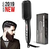 Beard Straightening Comb Anti-Scald with LED Display,Beard Straightener Brush Adjustable Temperatures for Home & Travel