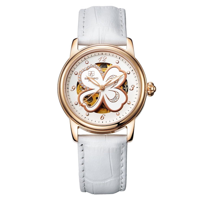 Automatische mechanische Uhr Lady-Hohlen Water resistant Zeitmesser- einfach und lÄssig Uhren-H