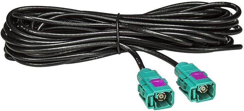 tomzz Audio 1600-017 Fakra - Cable alargador de antena (4 m, 400 cm, conector Fakra hembra (F) a conector Fakra (F), cable RG174, tipo Z)
