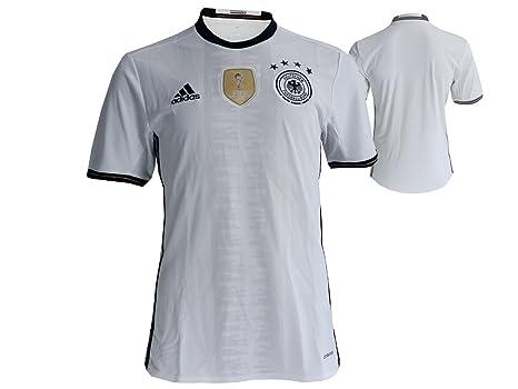Adidas Camiseta UEFA Euro 2016 DFB Réplica, Color Negro/Blanco, tamaño Small