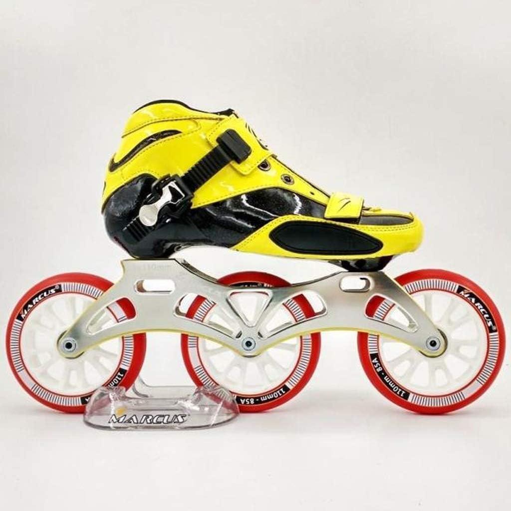 3ラウンドのファッションクールなインラインスケート、男性と女性プロフェッショナル単一行スケートシューズスピードスケート靴、33-46ヤード4色 (色 : B, サイズ さいず : EU 37/US 5/UK 4/JP 23.5cm) B EU 37/US 5/UK 4/JP 23.5cm