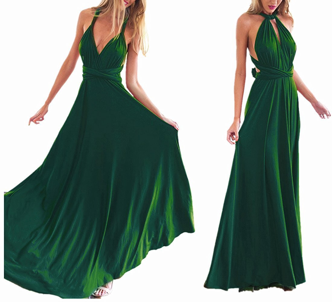 Womens Multiway Bridesmaid Robe Wrap Wedding Evening Maxi Long Dresses Prom Gown