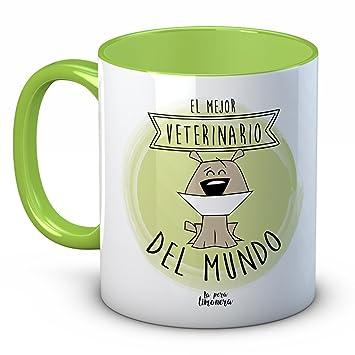 """Taza Animales Mascotas Perros Gatos - El Mejor Veterinario del Mundo """"PERRO"""" -"""