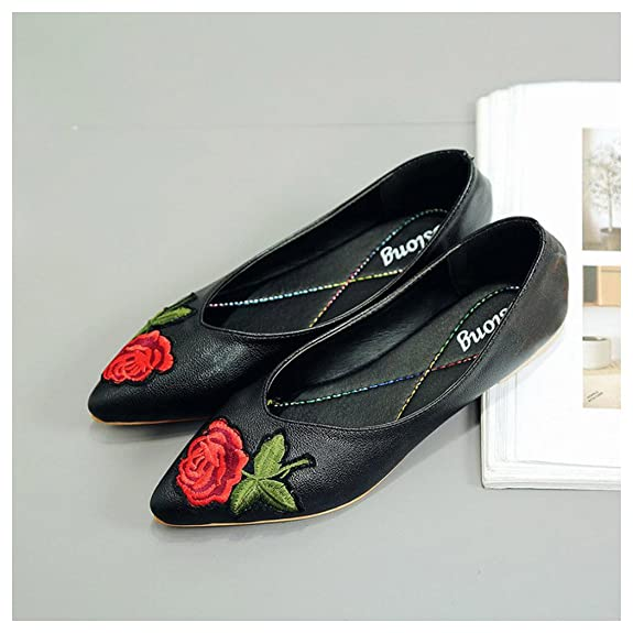 Women Shoes, Fuibo Women Flower Flats Slip Fabric Casual Shoes Pointed Toe  Wedding Work Shoes: Amazon.co.uk: Shoes & Bags