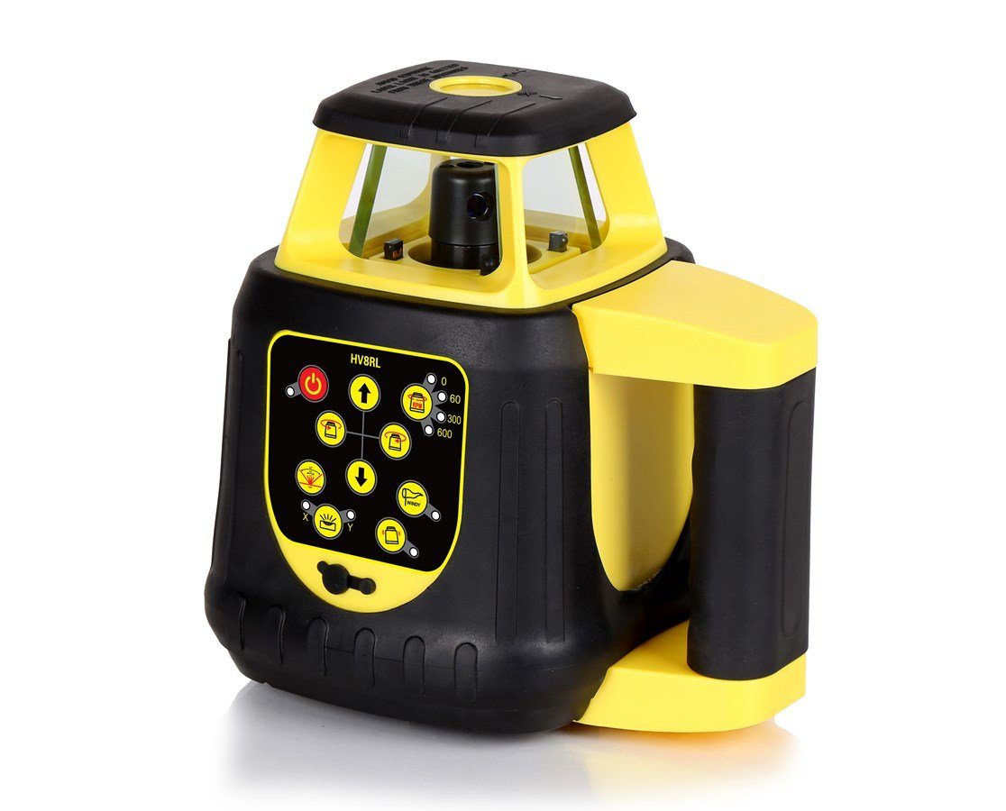 AdirPro HV8RL Rotary Laser - Self-Leveling Horizontal & Vertical - Remotely Controllable - Laser Detector Included - Rechargeable Batteries (up to 1,650 feet with laser receiver)