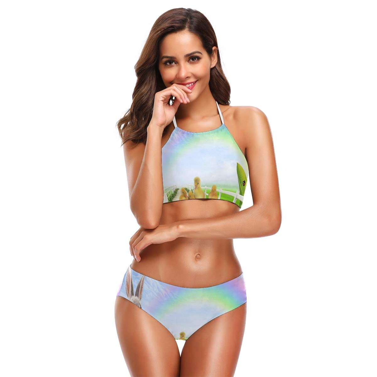 b6432089ce424 Amazon.com: Women Two Piece Bikini Swimsuit Vintage Wallpaper Padded  Vintage Eres Swimsuit: Clothing