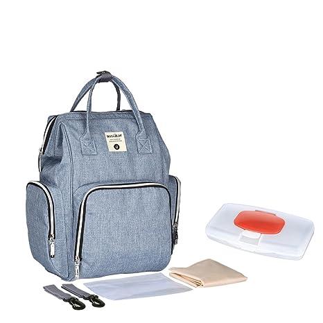 UK 4 IN 1 Large Baby Diaper Nappy Bag Mummy Rucksack Stroller Hanging Backpack