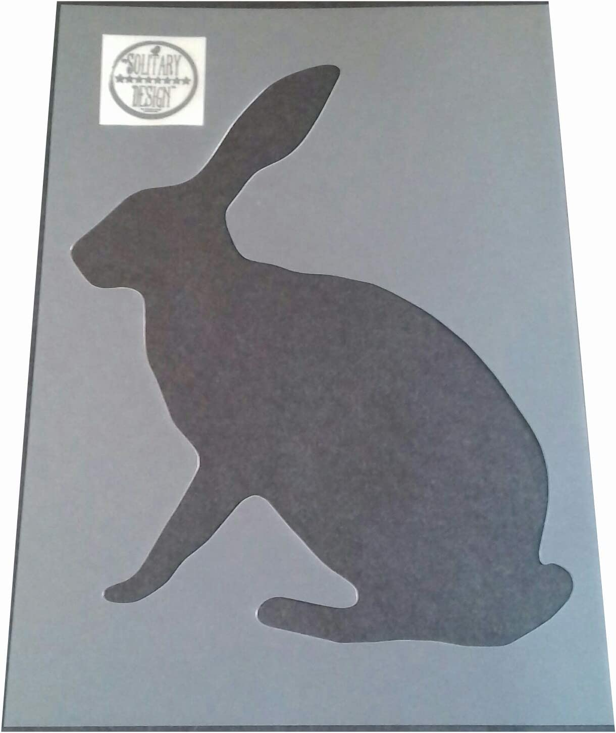 Solitarydesign Shabby Chic Stencil Hare silhouette Rabbit bunny Rustic Mylar Vintage A4 297x210mm wall Furniture
