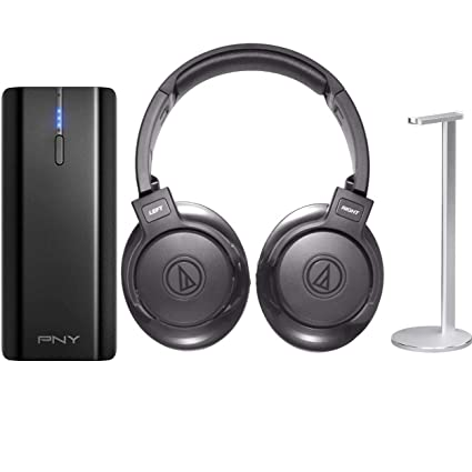 16cf0d0f984 Image Unavailable. Image not available for. Color: Audio-Technica SonicFuel Bluetooth  Over-Ear Headphones with Portable Charger and Headphone Stand