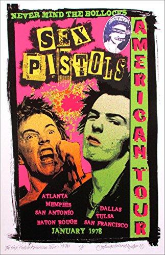 Sex Pistols 1978 American Tour Newly Created Art Print Original Artist's Edition Signed David Byrd