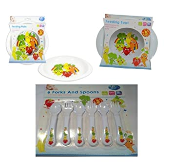 Bowls & Plates Feeding First Steps Baby Feeding Set Plate Bowl