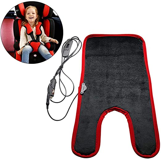 Lotuny Baby Car Seat Heating Pad Child Heated Cushion Safe Thermostatic Heating Pad for Kids Car Heated Seat Cover