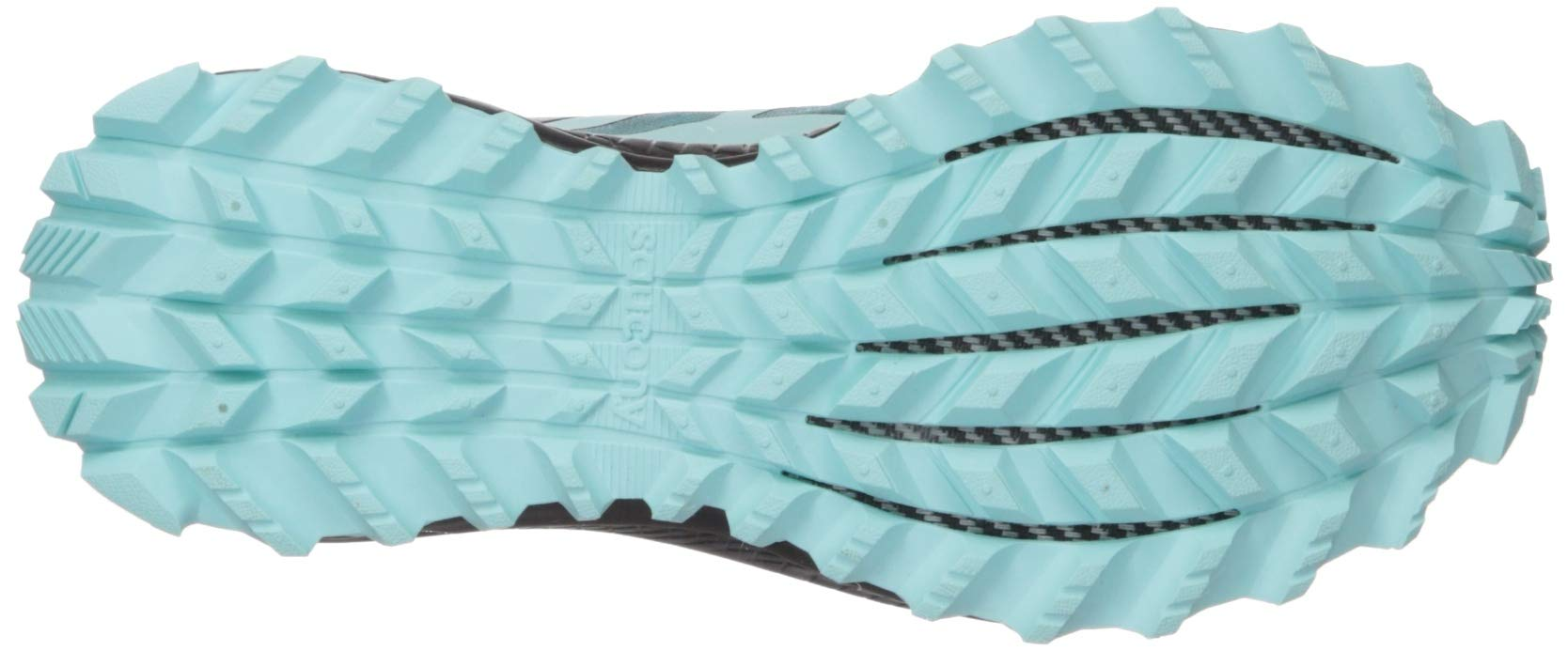 Saucony Women's Peregrine ISO Trail Running Shoe, Aqua/Grey, 5 M US by Saucony (Image #3)