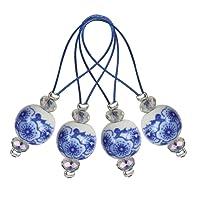 KnitPro ZOONI: Bead Maschenmarkierer: Blooming Blau, sortiert
