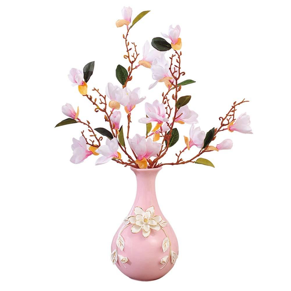 セラミック花瓶用花緑植物結婚式植木鉢装飾ホームオフィスデスク花瓶フラワーバスケットミニマリズム伝統的な床の花瓶 (三 : A) B07QN395JC