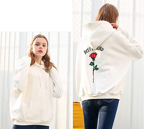 Matching Sweaters BFF Best Friends Hoodies for Women Teen Girl Sweatshirt 2 Pcs at Amazon Womens Clothing store:
