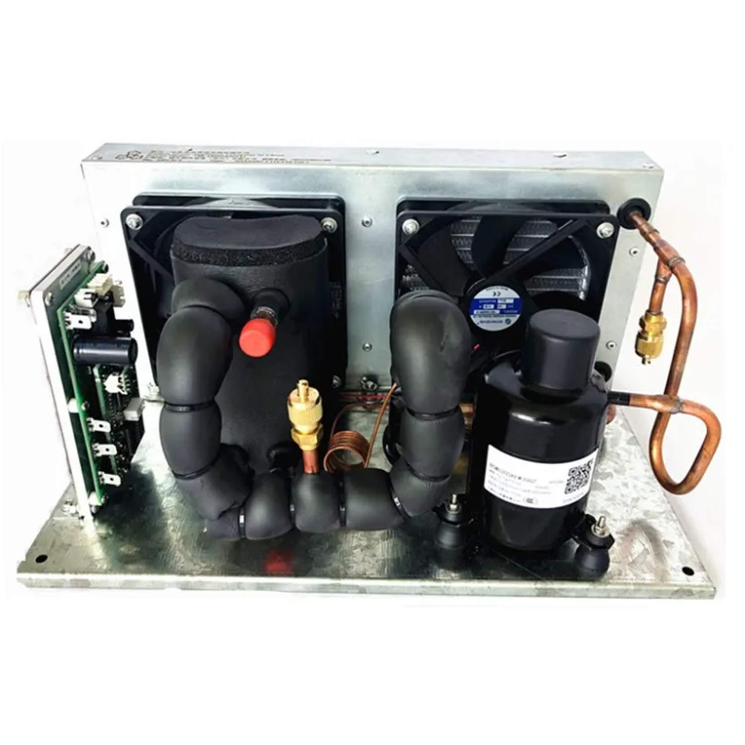 Shengjuanfeng Portable Cooling System Liquid Chiller Module DC 48V 137-455W Liquid Cooling System,P-Plate Liquid Chiller Module R134A Refrigerant Liquid Loop Cycling Refrigeration Small Cooling Unit