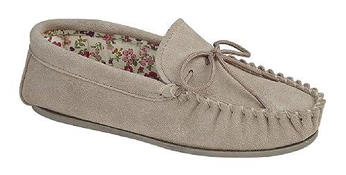 Mokkers Lily Mujer Ante Zapatillas de Andar por casa Piedra: Amazon.es: Zapatos y complementos