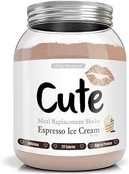 Cute Nutrition Batido Sustitutivo de Comida Sabor Helado de Espresso para el Control de la Pérdida de Peso en Polvo Bebida Dietética para Mujer Bote de 500 g…: Amazon.es: Salud y cuidado