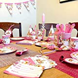 UNICORNS GALORE! Fabulous 125 pc Unicorn Party Supplies Set by ALEXANDRITE W/ BONUS Unicorn Headband - Complete Tableware Set W/ Cups, Napkins, Straws - Serves 10 - Invitations - Birthday Party Hats, Favor Bags, & Banner | Great for Girls Birthday, Gender Reveal, Baby Showers