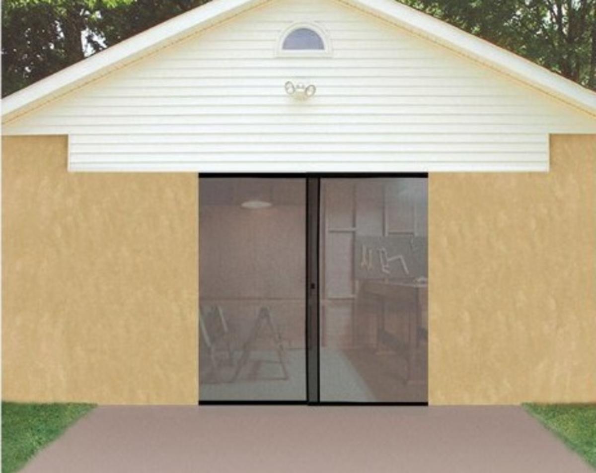 Ideaworks instant garage screen door double garage door bug ideaworks instant garage screen door double garage door bug screen amazon rubansaba