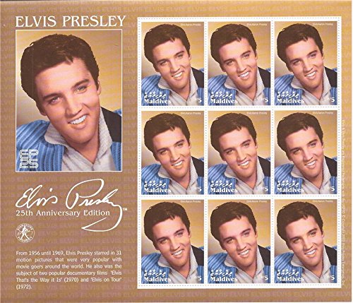 Maldives - 2002 Elvis Presley 9 Stamp Sheet 13E-483