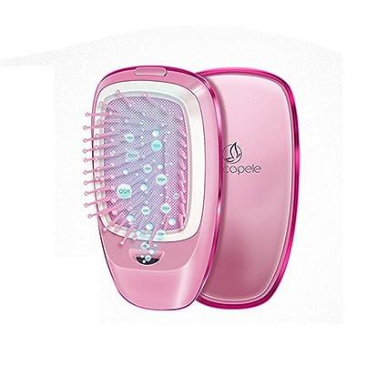 Cepillo Alisador Electrico de Pettine per massaggio elettrico, pettine per capelli lisci anti-statico