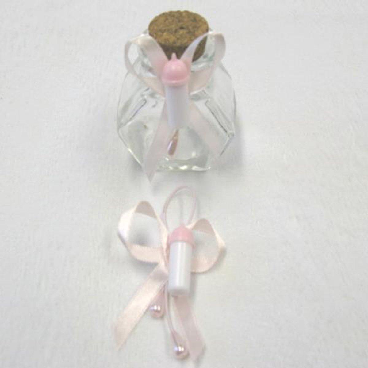 Visiodirect Lot DE 72 Attaches biberon avec /élastique Coloris Rose 1 x 2,5 cm