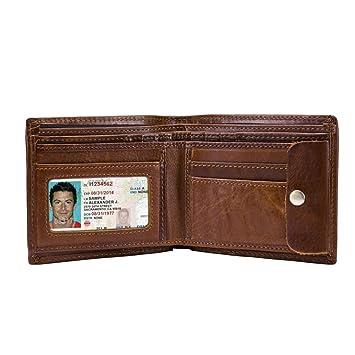 Billetera Super Light Simple Man Purse Bolso de Tarjeta Zero Wallet Desgaste práctico Cuero Restauración de Formas Antiguas Cartera de Cuero para Tarjeta de ...