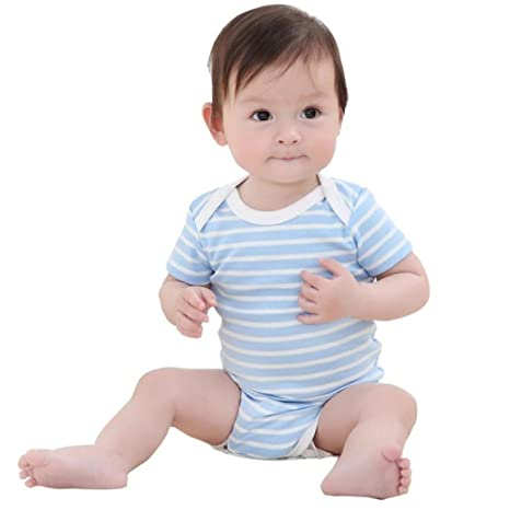 37b59685490 Amazon.com  FEITONG Newborn Infant Baby Boys Girls Striped Romper Jumpsuit Outfits  Clothes  Baby