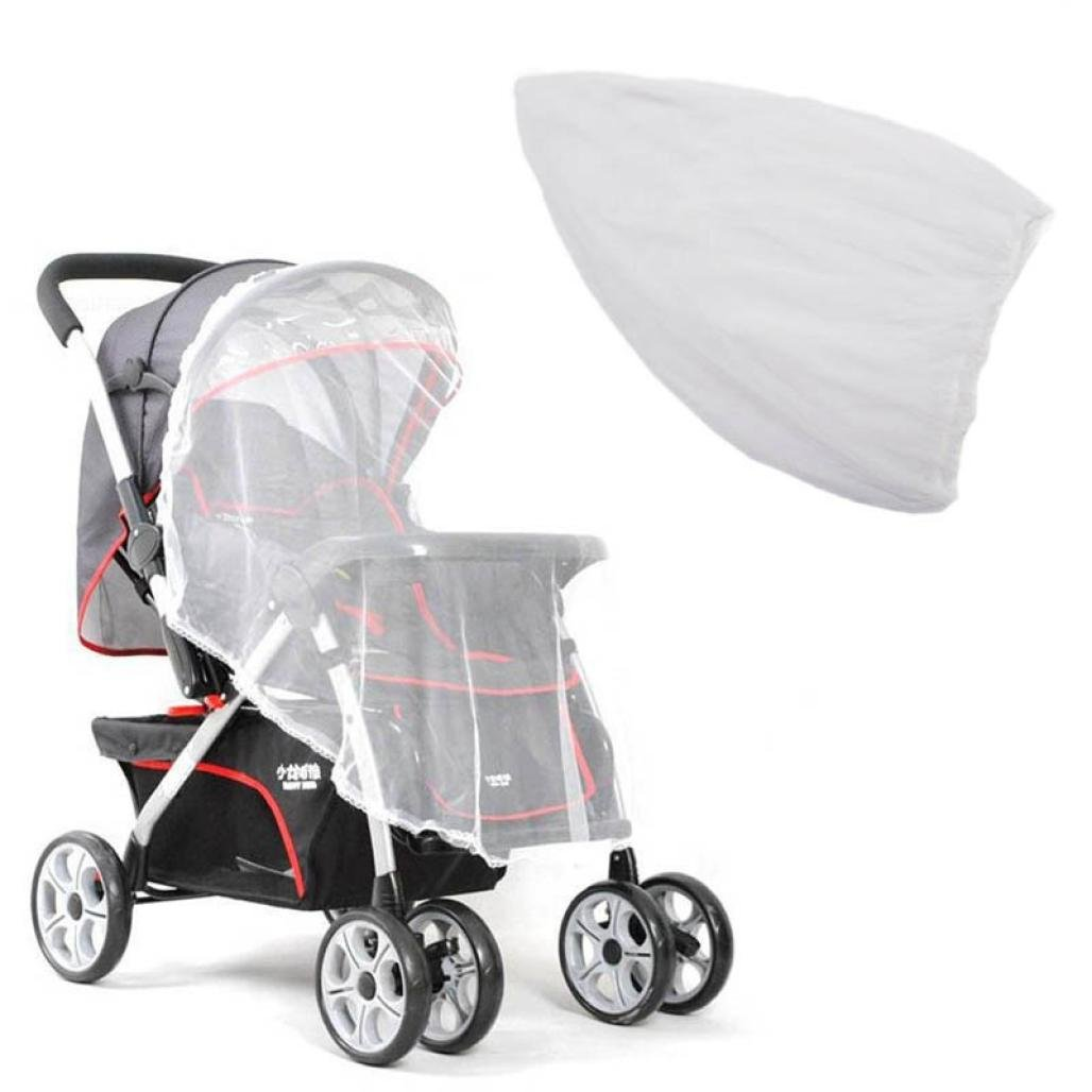 Inverlee Summer Safe Baby Carriage Insect Full Cover Mosquito Net Baby Stroller Bed Netti - ONLY Mosquito Net (White)
