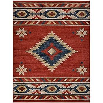 lone rug cross star blue rustic rugs yhst southwestern x southwest