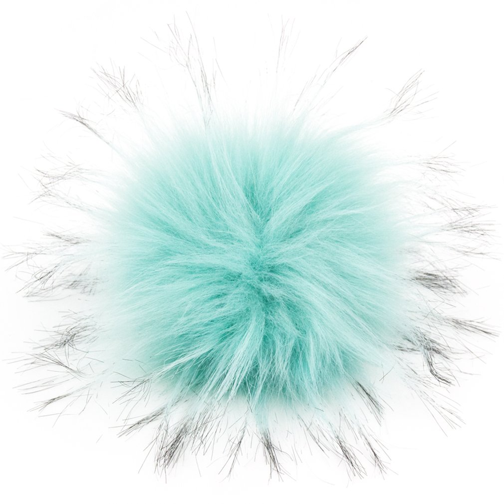 Furling DIY 12pcs Faux Raccoon Fur 11cm Pom Pom Ball For Knitting Hat DIY accessories (Natural) FD11NT1*12