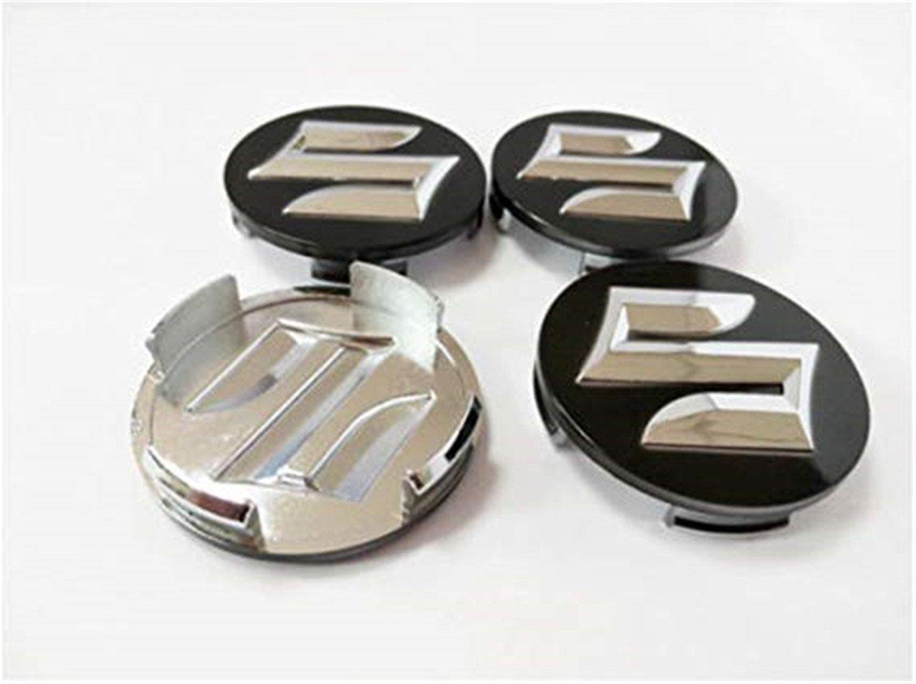 yongyong218 4pcs Black 54mm Car Styling Car Wheel Center Hub Caps for Suzuki Wheel Center: Amazon.es: Coche y moto