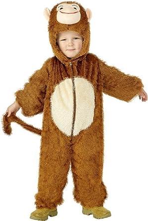 Niños Disfraz Mono de traje de mono niña Joven Einteiler Animales ...