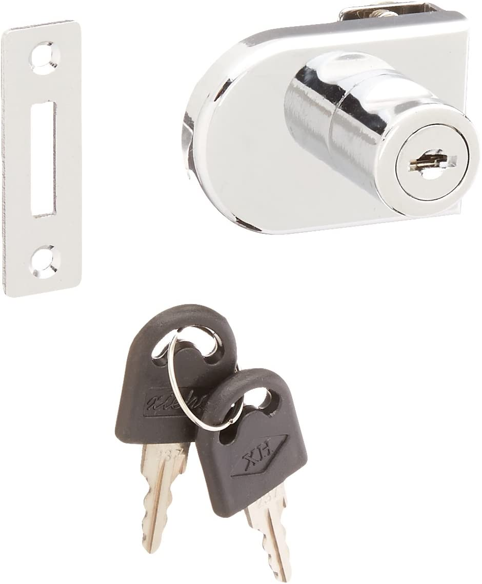 Glass Lock with 2 Key Perfect for Display Showcase Cabinet Glass Push Door