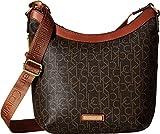 Calvin Klein Women's Hudson Monogram Messenger Brown/Luggage One Size