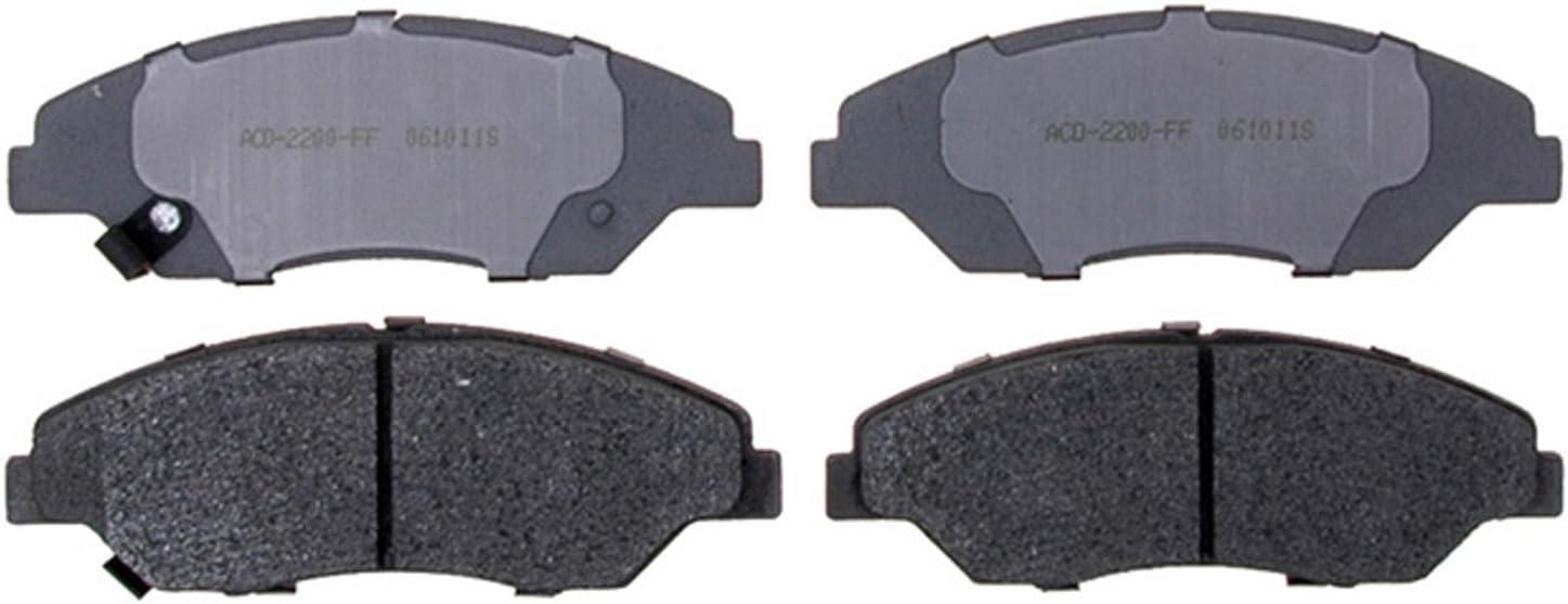 ACDelco 14D857M Advantage Semi-Metallic Front Disc Brake Pad Set with Wear Sensor