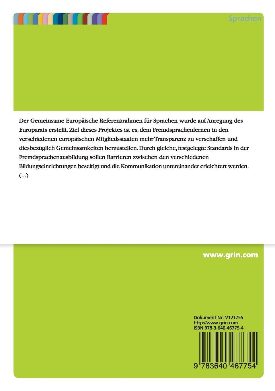 Die Vergleichbarkeit von Sprachdiplomen gemäß des Gemeinsamen ...